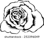 rose silhouette  isolated on... | Shutterstock . vector #252396049