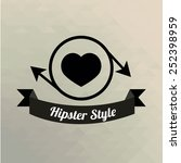hipster love  heart  circle and ... | Shutterstock .eps vector #252398959