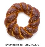 a loaf of challah bread for... | Shutterstock . vector #25240273