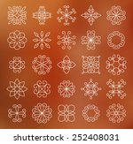set of contour line flowers ... | Shutterstock .eps vector #252408031