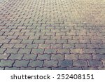 Brown Brick Pathway  In The Park