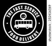food delivery design  vector... | Shutterstock .eps vector #252416569
