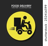 food delivery design  vector...   Shutterstock .eps vector #252416599