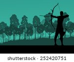active young archery sport men... | Shutterstock .eps vector #252420751