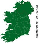 there is a map of ireland... | Shutterstock .eps vector #25242433