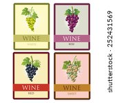 vector collection of four wine... | Shutterstock .eps vector #252431569