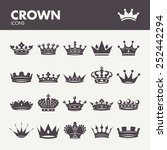 crown. icons set in vector | Shutterstock .eps vector #252442294