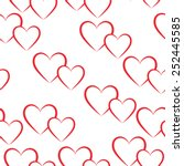 Seamless Pattern Of Red Hearts...