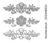 vintage  elements  isolated on ... | Shutterstock .eps vector #252448021
