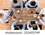 business  people  break and... | Shutterstock . vector #252455749