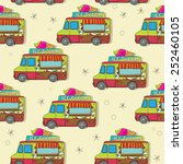 endless pattern with cartoon... | Shutterstock .eps vector #252460105