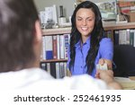 a sales assistant portrait in...