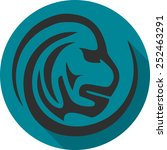 monkey icon | Shutterstock .eps vector #252463291