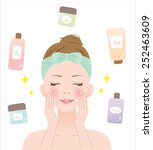 skin care | Shutterstock .eps vector #252463609