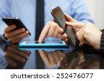businessman and businesswoman... | Shutterstock . vector #252476077