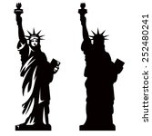 statue of liberty. new york... | Shutterstock .eps vector #252480241