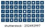 education icon set | Shutterstock .eps vector #252492997