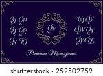 vintage monogram design... | Shutterstock .eps vector #252502759