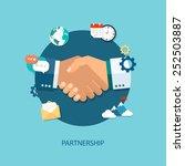 vector partnership illustration.... | Shutterstock .eps vector #252503887