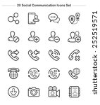 social communication icons set  ... | Shutterstock .eps vector #252519571