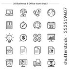 business   office icons set 2 ... | Shutterstock .eps vector #252519607