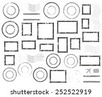 set of postal stamps and... | Shutterstock .eps vector #252522919