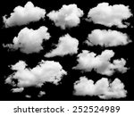 Set Isolated Clouds Over Black - Fine Art prints
