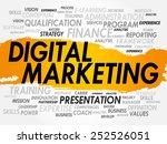 word cloud of digital marketing ... | Shutterstock .eps vector #252526051