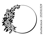 decorative round frame with... | Shutterstock .eps vector #252531529