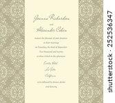 invitation card. wedding... | Shutterstock .eps vector #252536347