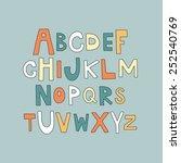 hand drawn alphabet. vector... | Shutterstock .eps vector #252540769
