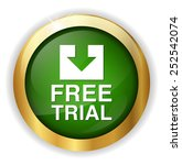 free trial button | Shutterstock .eps vector #252542074