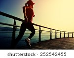 healthy lifestyle sports woman... | Shutterstock . vector #252542455