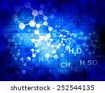 molecules background    Shutterstock . vector #252544135