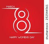 march 8. international women's... | Shutterstock .eps vector #252544561