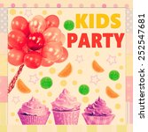 colorful kids party poster | Shutterstock . vector #252547681
