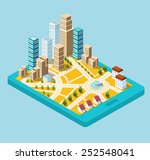 vector  isometric city center... | Shutterstock .eps vector #252548041
