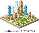vector  isometric city center... | Shutterstock .eps vector #252548269