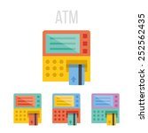 vector atm icons.