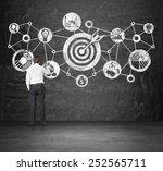 businessman drawing goal... | Shutterstock . vector #252565711