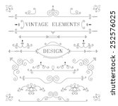 vintage design  borders  retro... | Shutterstock . vector #252576025