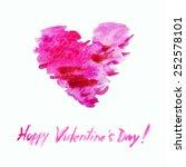 elegant valentine's day card... | Shutterstock .eps vector #252578101