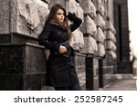 fashion model with sunglasses ... | Shutterstock . vector #252587245