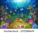 underwater world | Shutterstock .eps vector #252588649