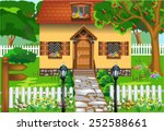 simple rustic house | Shutterstock .eps vector #252588661