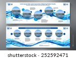 exhibition stand displays... | Shutterstock .eps vector #252592471