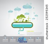 ecology save the water | Shutterstock .eps vector #252595345