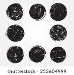 grunge circles.round grunge... | Shutterstock .eps vector #252604999