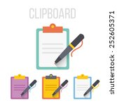 vector clipboard icons.  | Shutterstock .eps vector #252605371