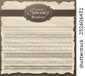 vector set of seamless sewing... | Shutterstock .eps vector #252606451
